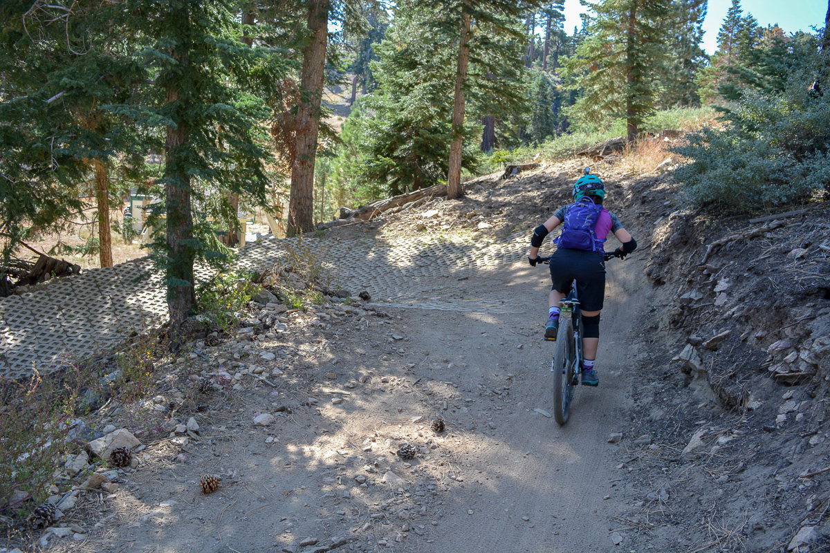 Mountain biking on the trails of Big Bear, California