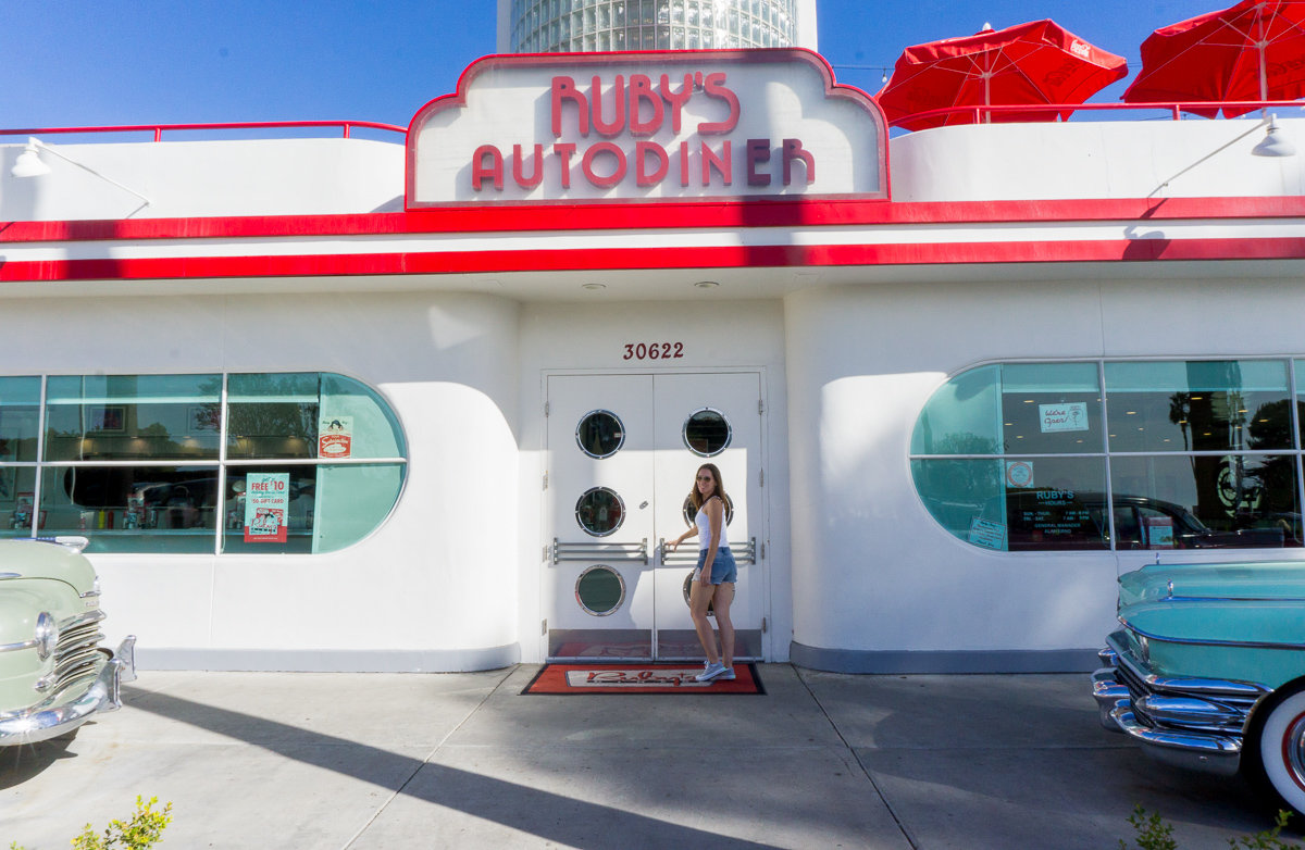 Ruby's Diner in Laguna Beach, California