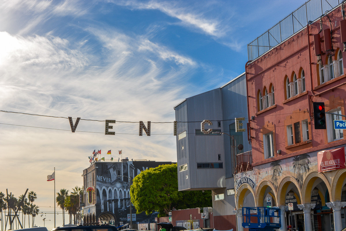 The Venice sign in Venice Beach, California