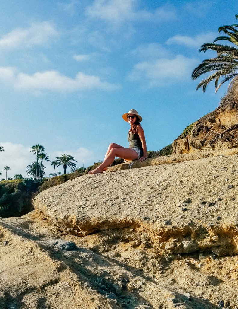 At Treasure Island Beach in Laguna Beach, California