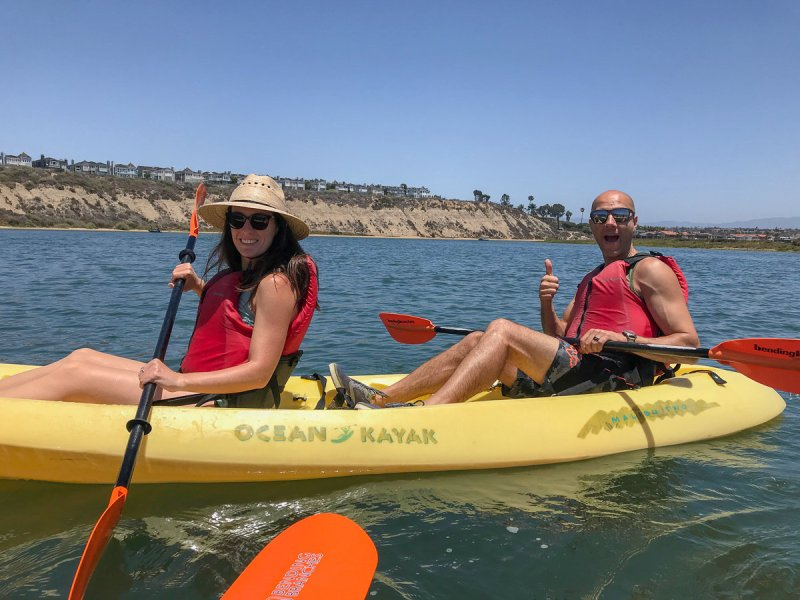 Kayaking in the Newport Back Bay
