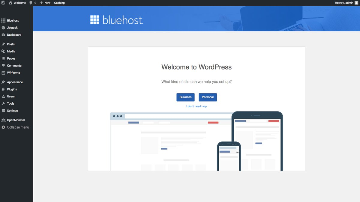 Steps for starting a blog through Bluehost