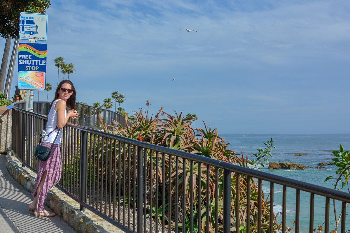 Trolley stop in Laguna Beach