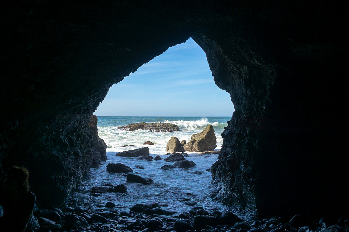 View from inside of the Dana Point Sea Cave