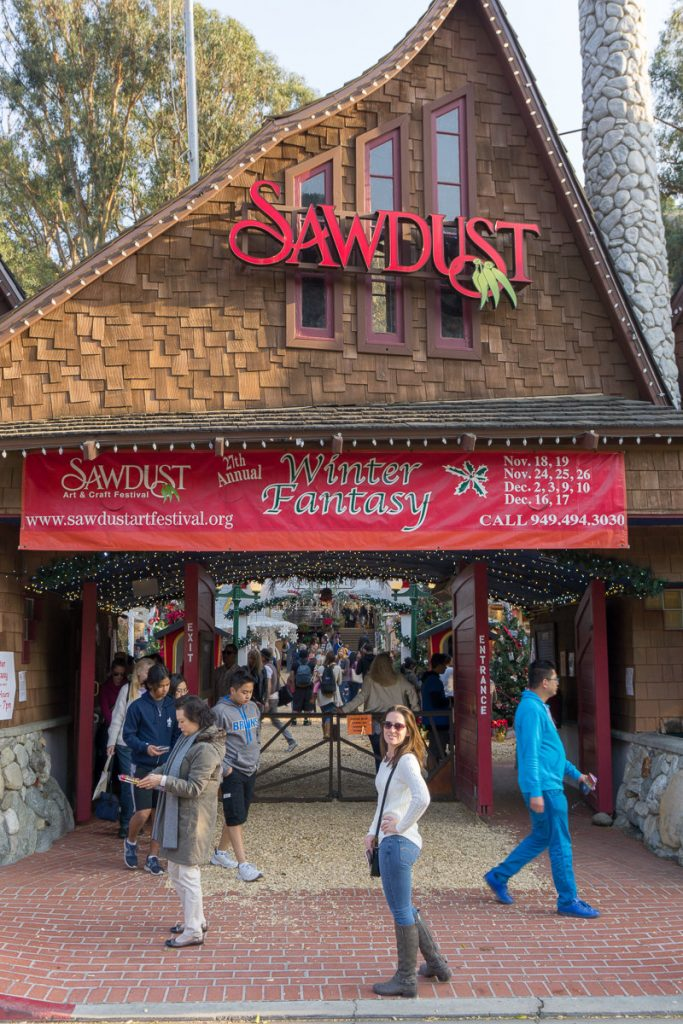 The entrance to the Sawdust Art Festival in Laguna Beach