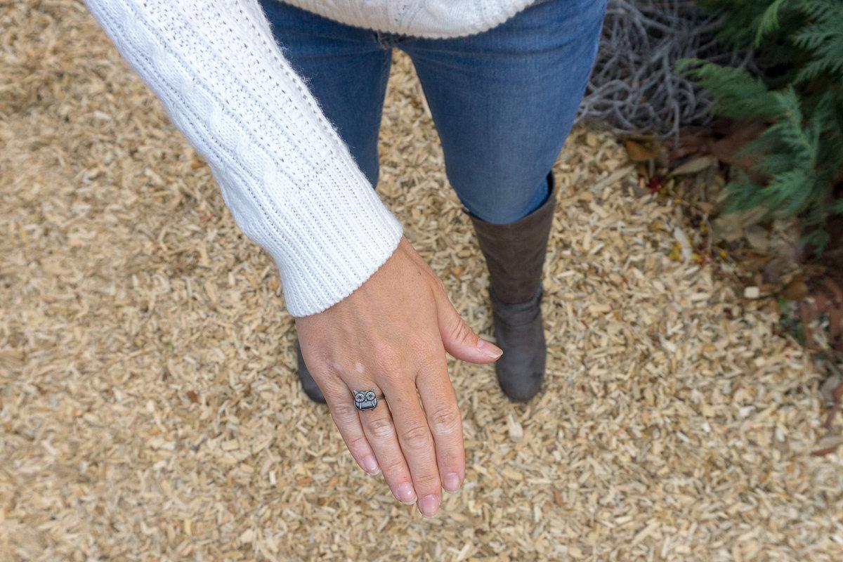 Handmade ring from the Sawdust Art Festival