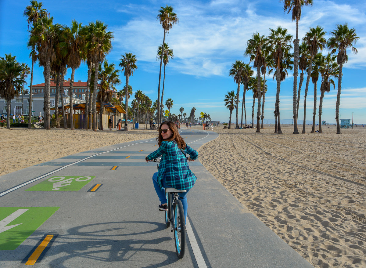 Bike ride from Venice Beach to Santa Monica Pier