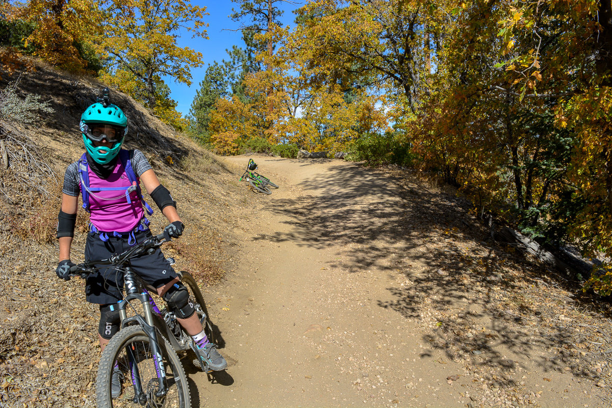 Mountain biking outfit for women