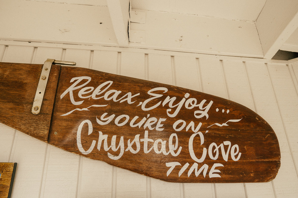 Relax, You're on Crystal Cove time