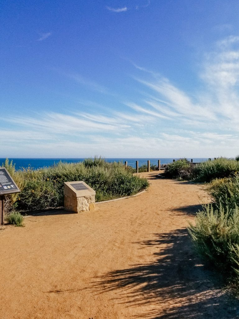 Walking path in Crystal Cove State Park