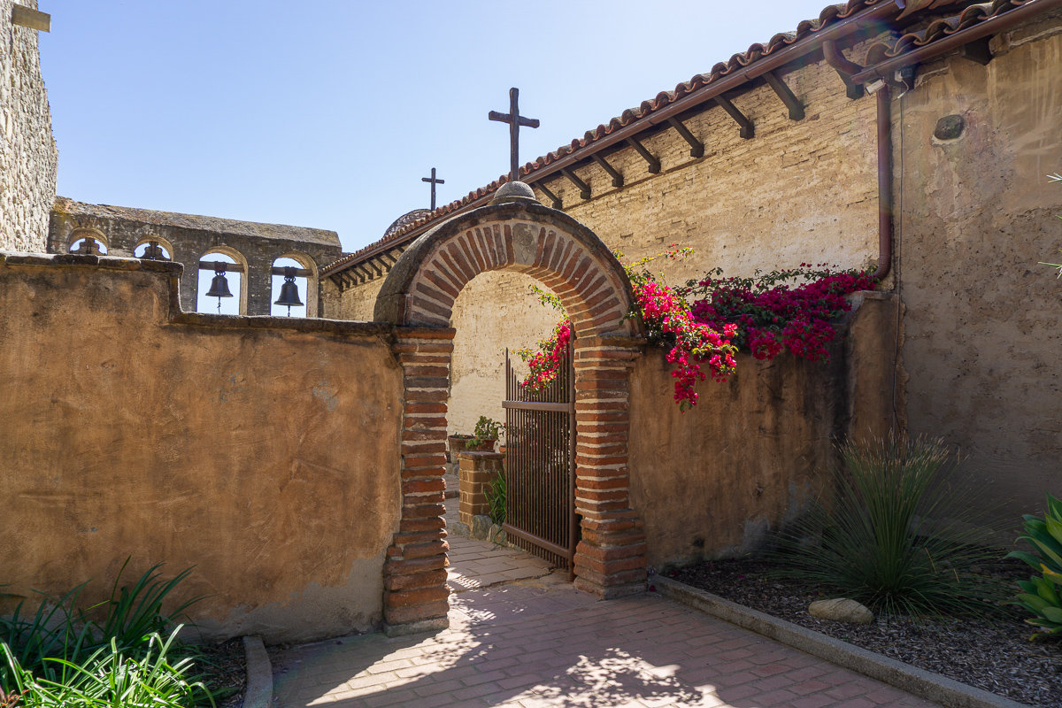 The entrance to the Bell Wall inside of the Mission San Juan Capistrano