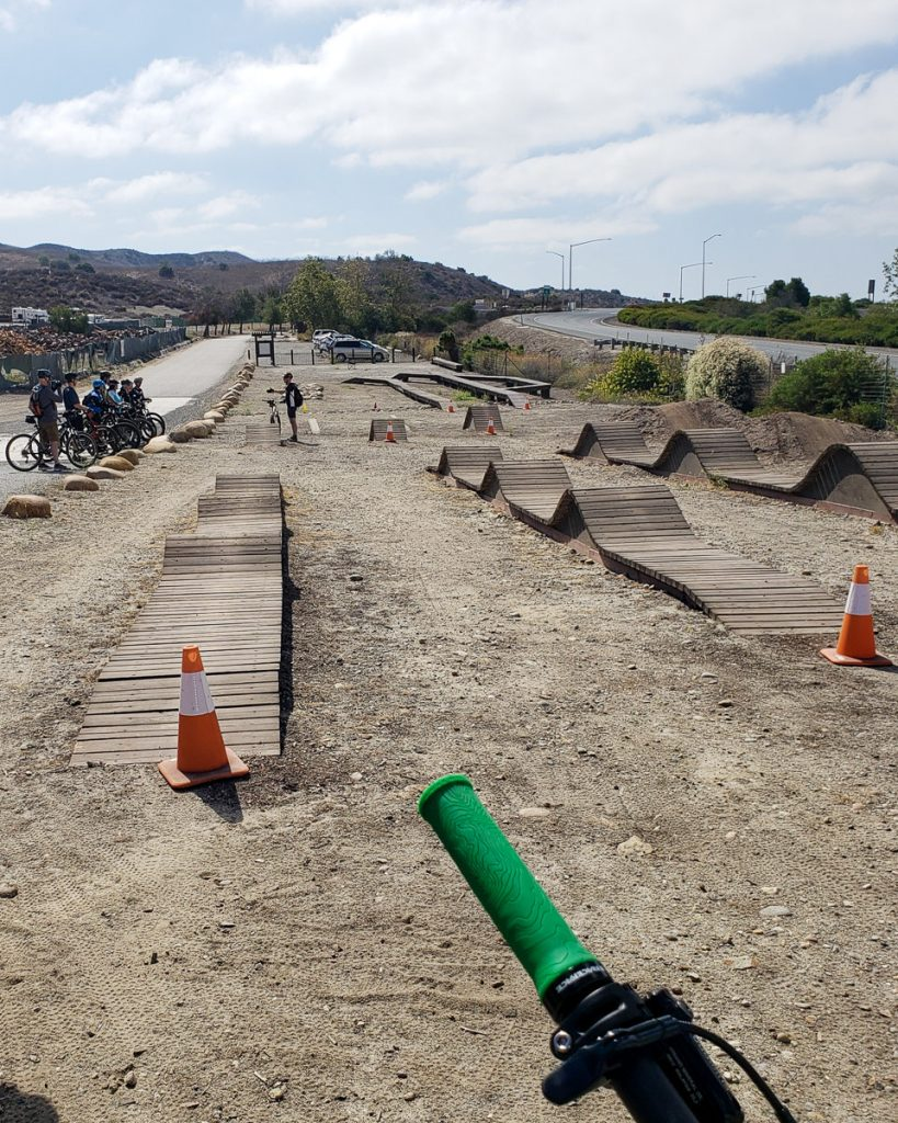 Mountain Bike Skills Clinic area in Irvine