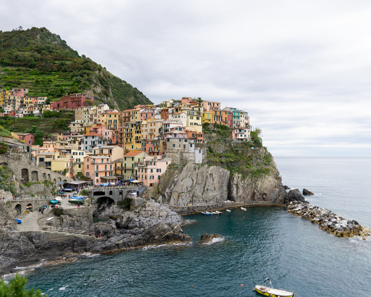The coastline of Cinque Terre