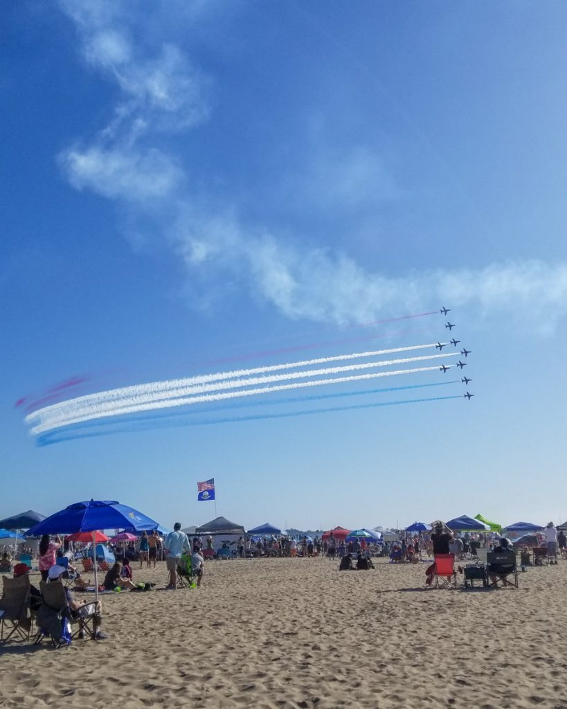The Great Pacific Air Show in Huntington Beach