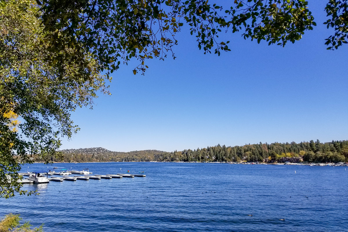 Overview of Lake Arrowhead, California