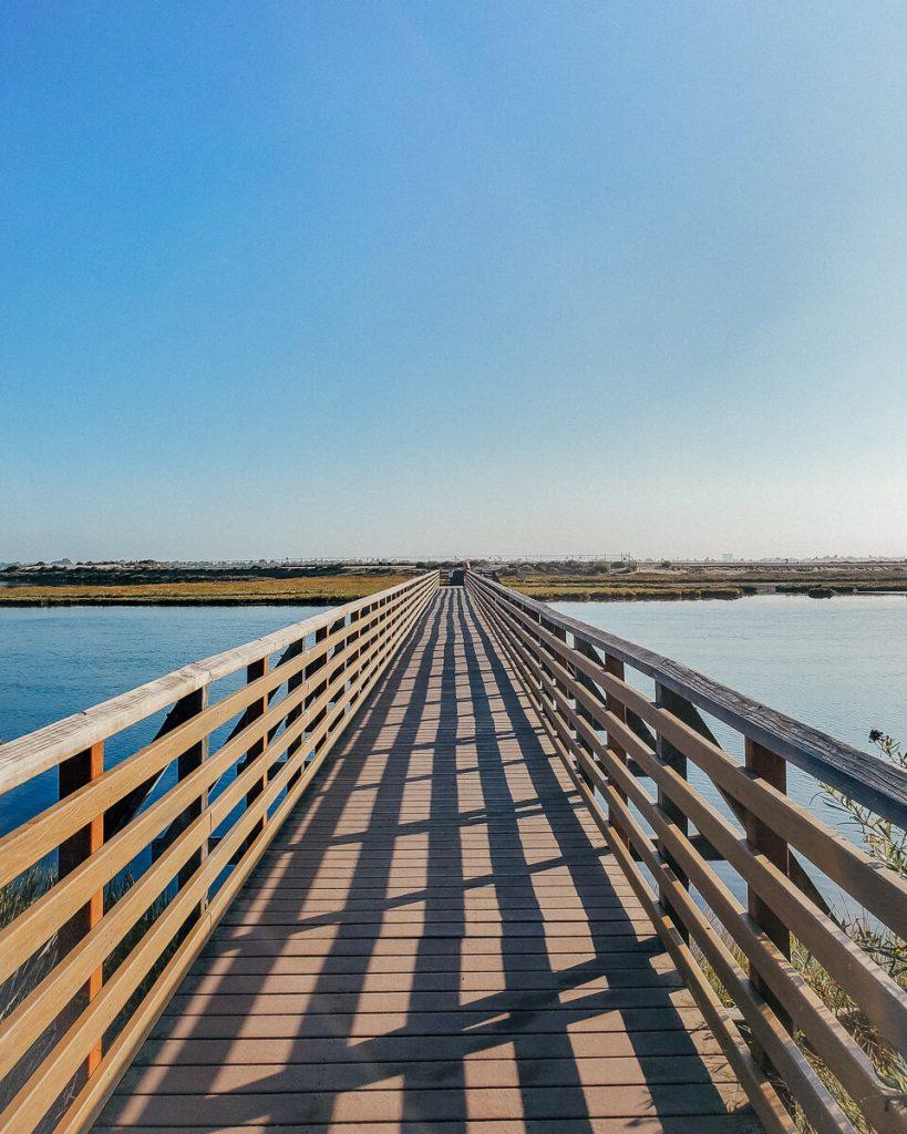 Bridge to enter the Bolsa Chica Wetlands