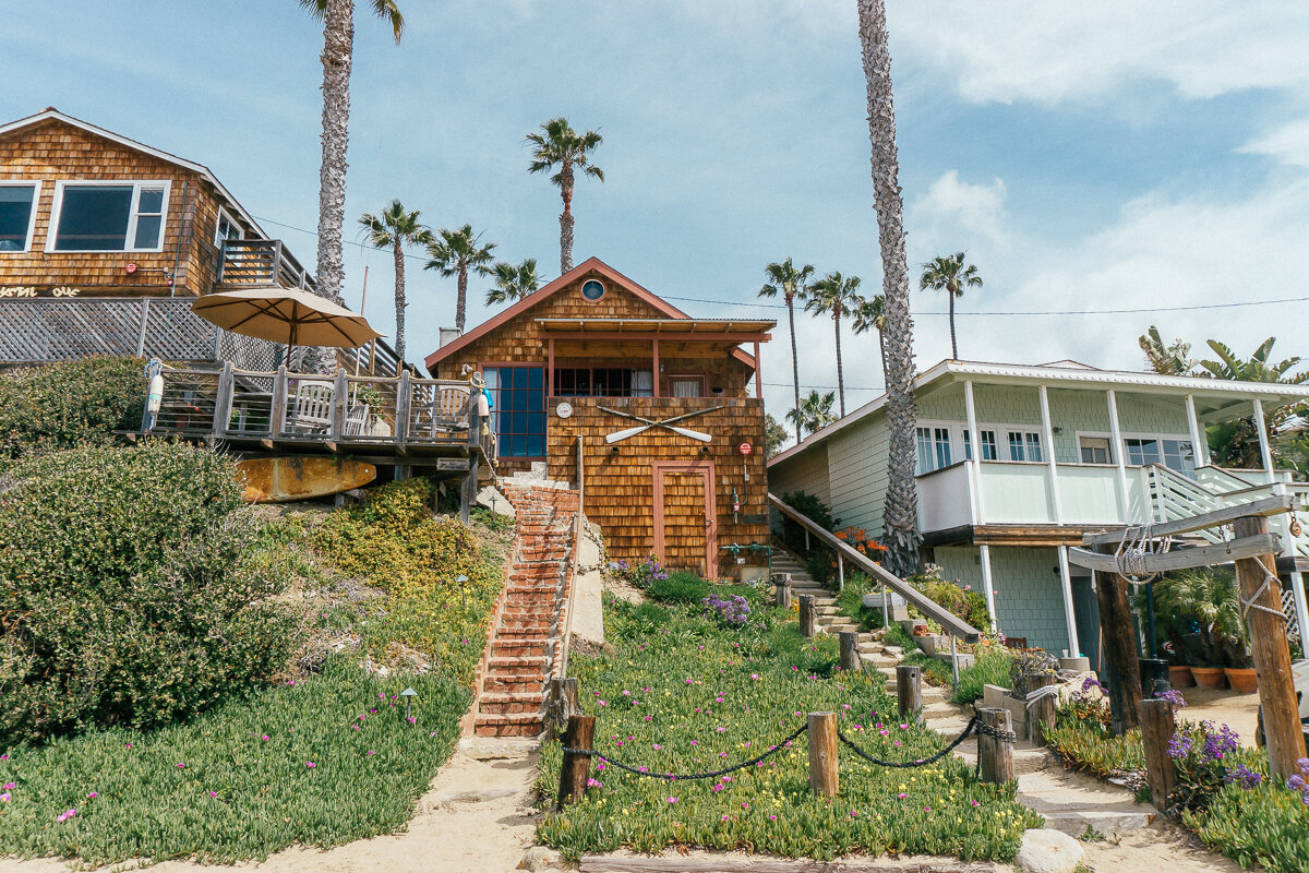 Historic cottages at Crystal Cove State Beach