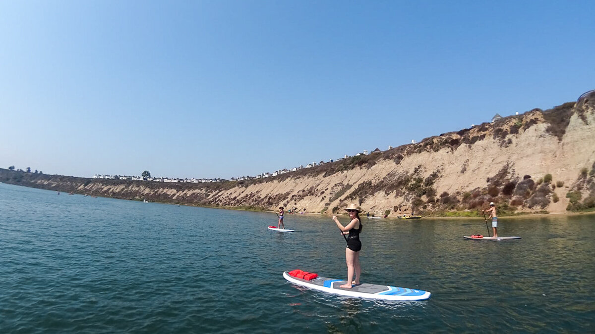 Stand-Up Paddleboarding in Newport Back Bay