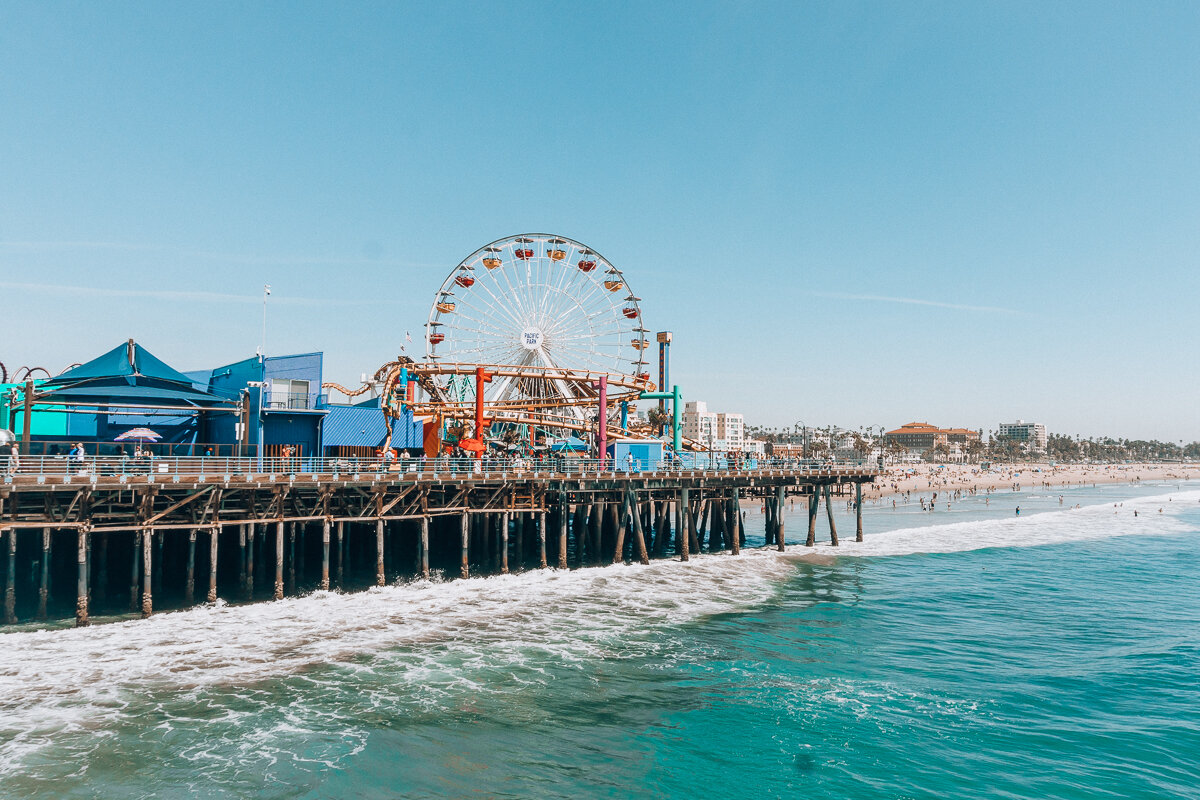 The end of Route 66 at Santa Monica Pier