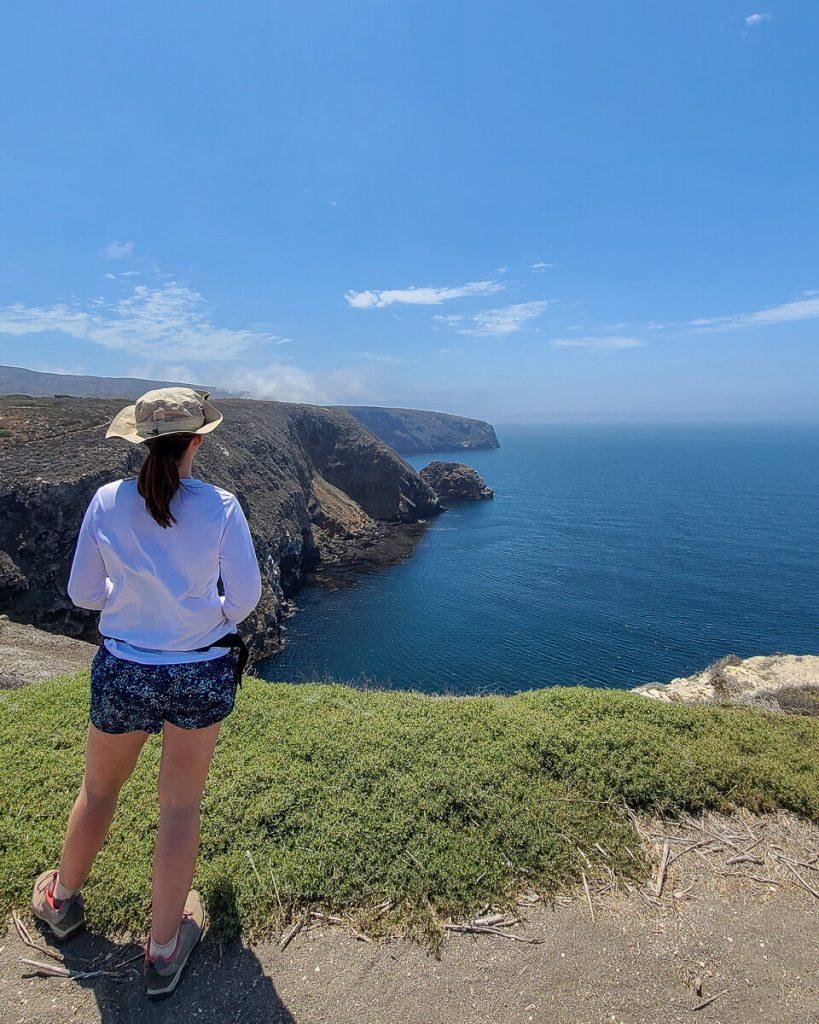 Hiking view on Santa Cruz Island at Channel Islands National Park
