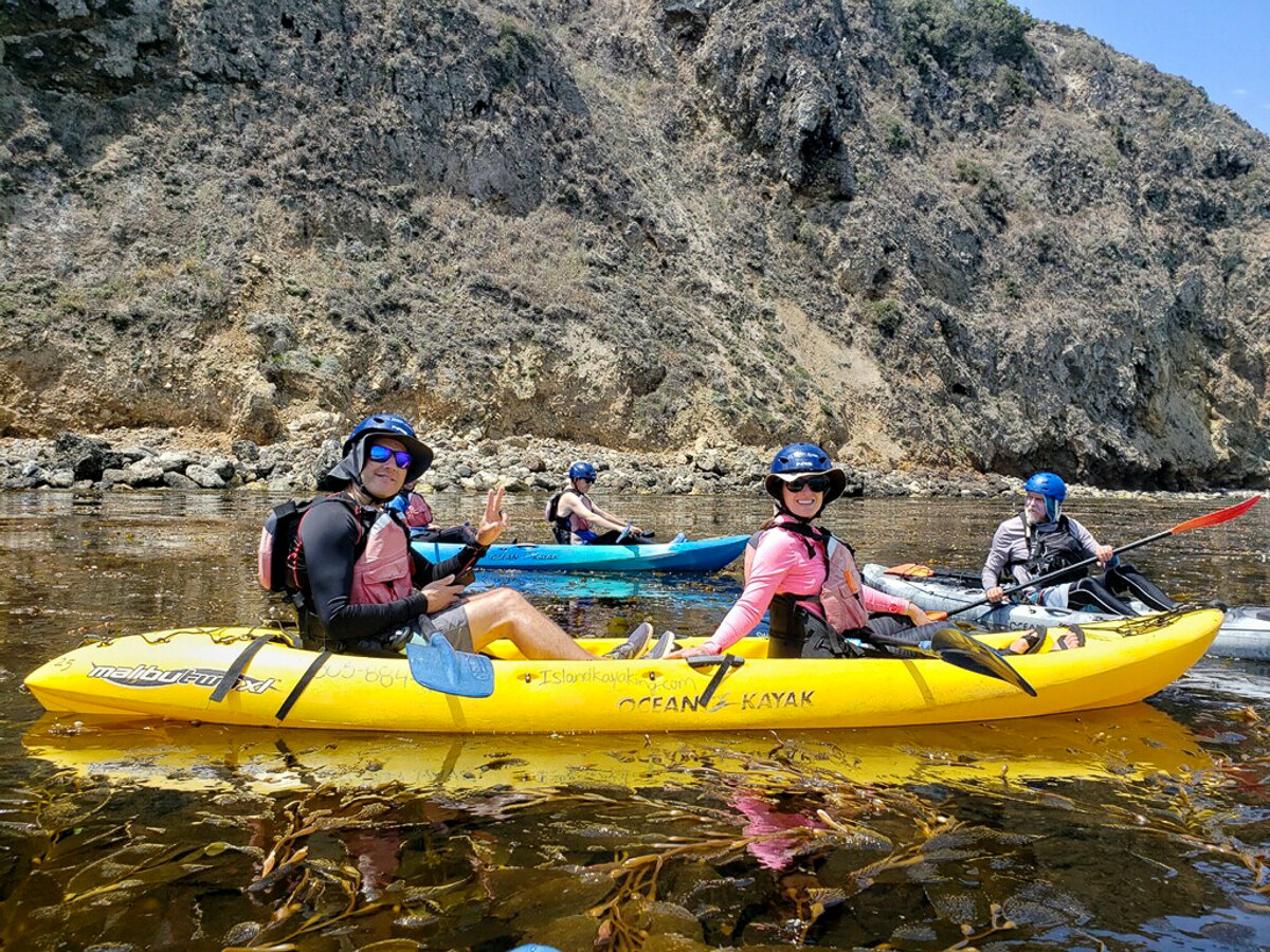 With the group kayak tour at Channel Islands National Park