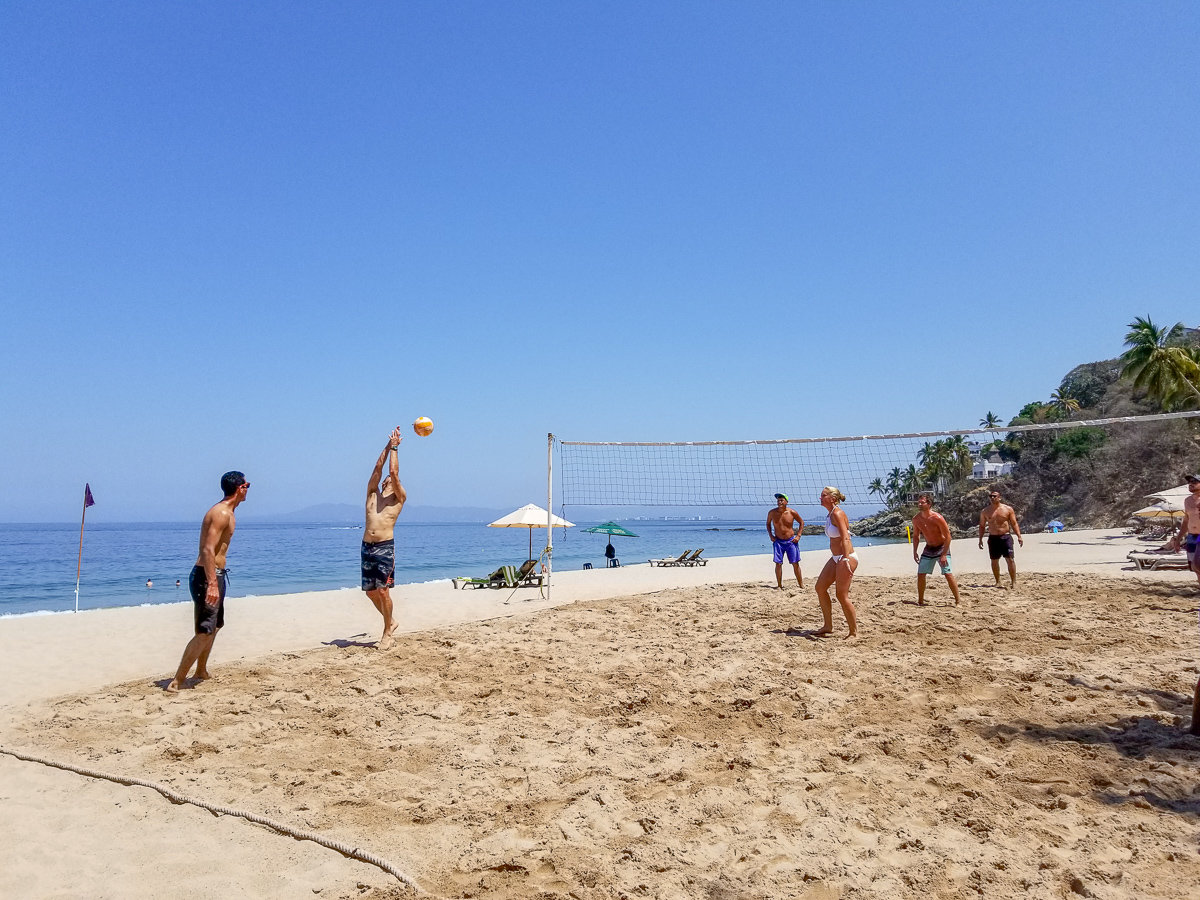 Beach volleyball at Hyatt Ziva Puerto Vallarta