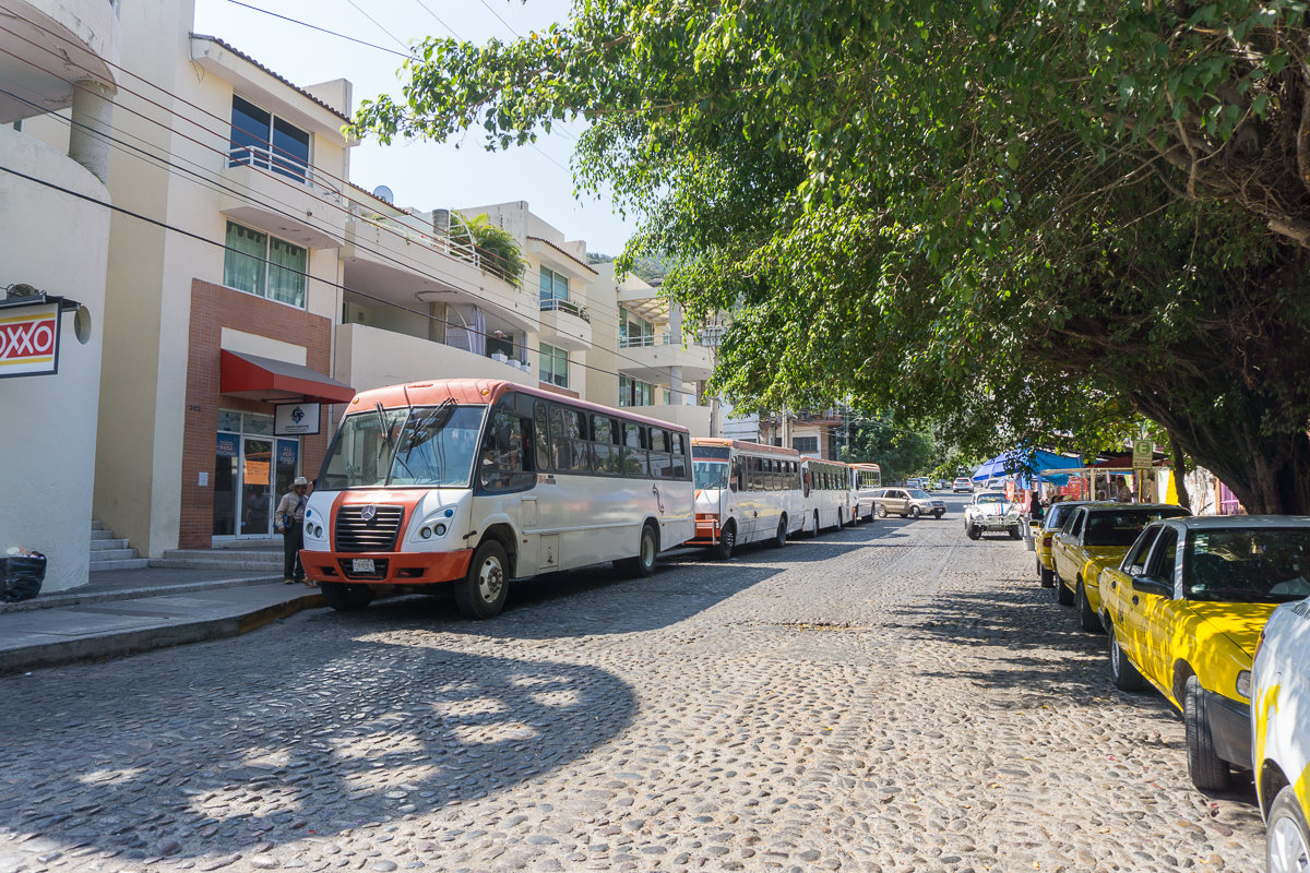 Buses and Taxis are a great way to get around during a trip to Puerto Vallarta