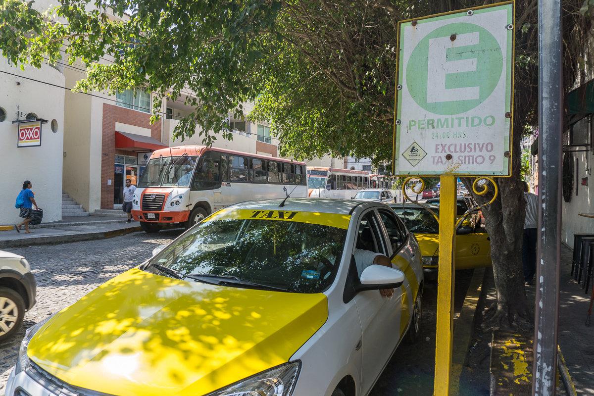 Taxi sitio station in Puerto Vallarta
