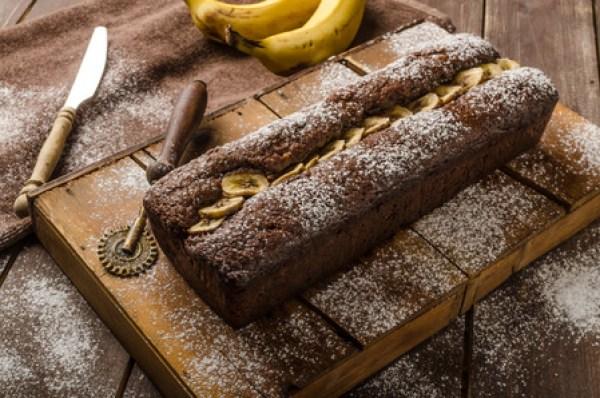 56218548 - homemade banana bread wholemeal with dark chocolate