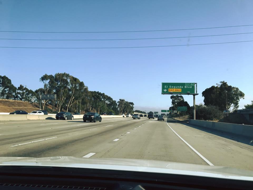Aangekomen op Amerika: op naar Orange County.