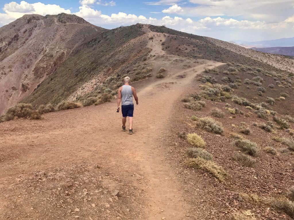 Hiking at Dante's view.