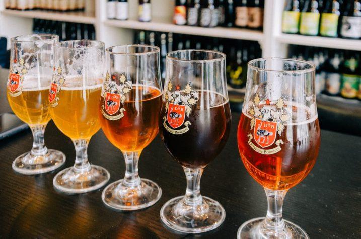 Lokale bieren in Brugge, België