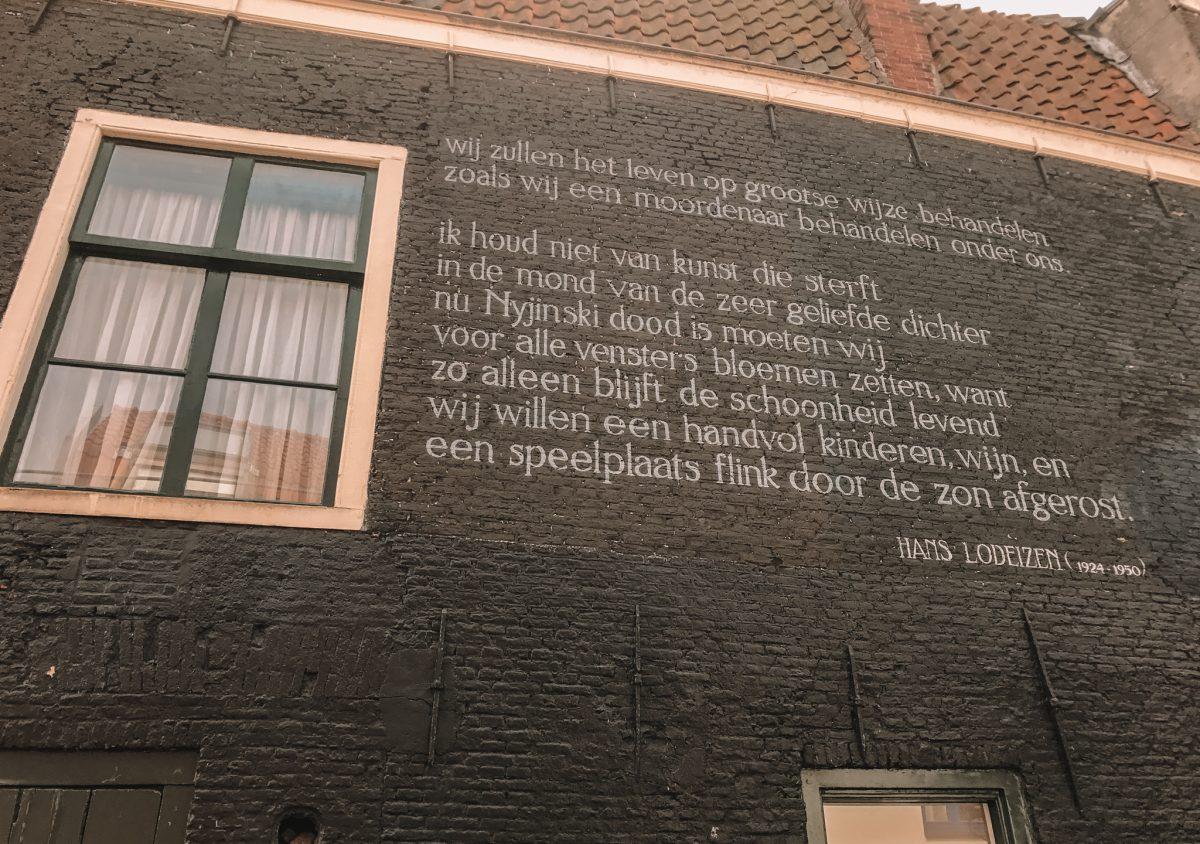 Muurgedichten Leiden, Nederland