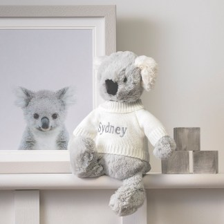 Personalised Jellycat grey bashful koala soft toy