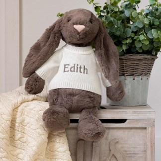 Personalised Jellycat Truffle Bashful Bunny Large Soft Toy