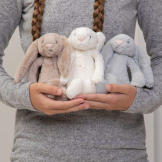 Jellycat bashful bunny small soft toy - beige, cream or silver
