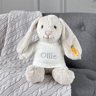Personalised Steiff hoppie rabbit medium soft toy