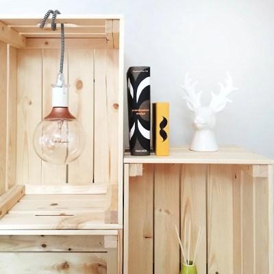 INGRIDESIGN DIY knagglig storage with light closeup