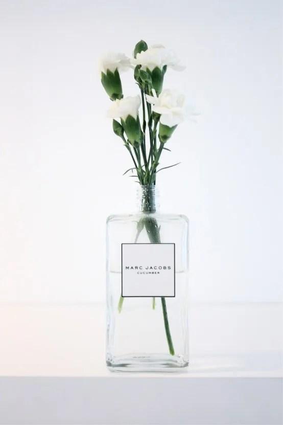 perfume bottle reuse home vase scandinavian