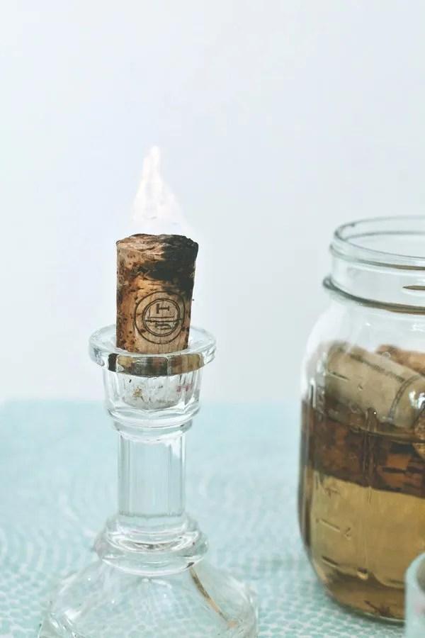 winecork candle reuse home easy scandinavian