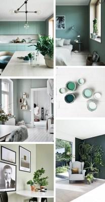 scandinavian green interior colour moodboard