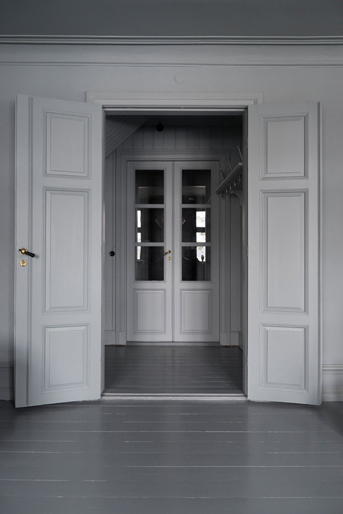 dark moody house swedish door