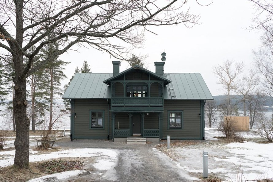 dark moody house swedish home