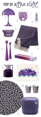 ultraviolet purple home interior scandinavian design