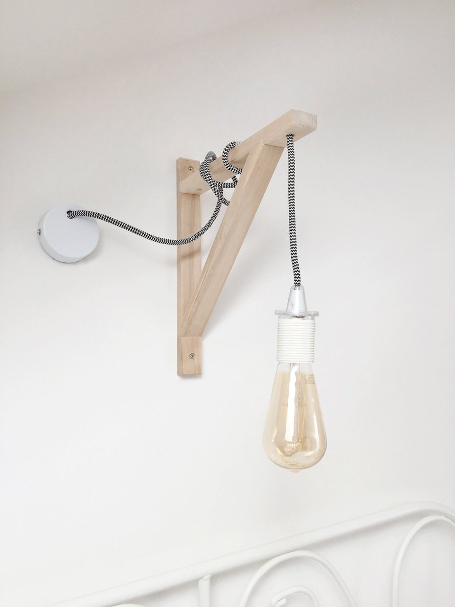 DIY wall hanging lamp lightbulb 1