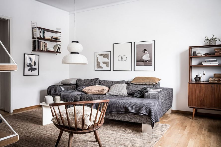 charming home sweden livingroom