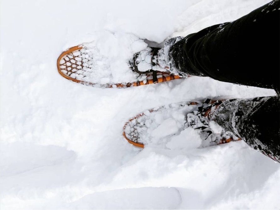 scandinavian feeling snow walk