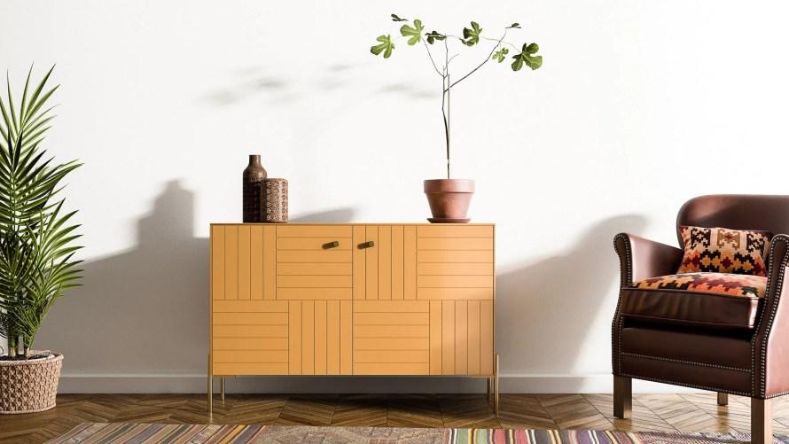 ikea norse cabinet scandinavian home orange