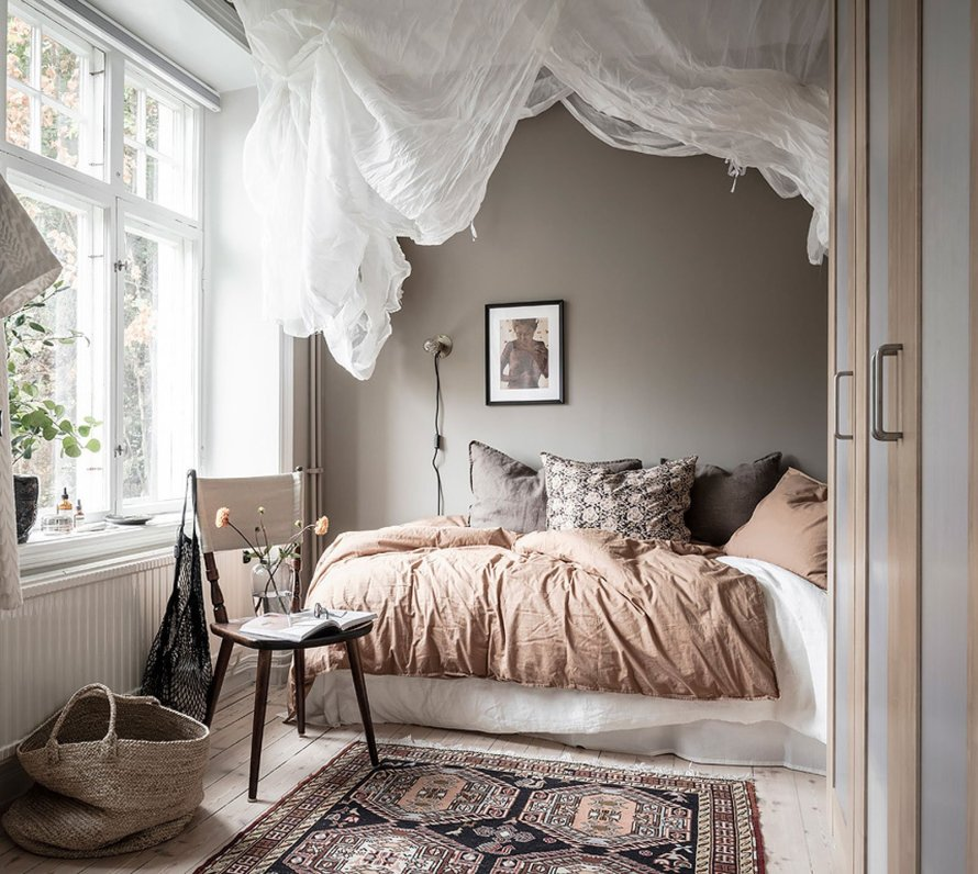cozy bedroom hygge canopy