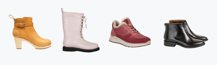 scandinavian shoes autumn winter essentials